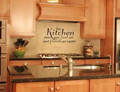 This kitchen is seasoned with love vinyl wall decal. Great looking wall decal for any kitchen. Seasoned with love by Fantasticwalldecals on Etsy Vinyl Flooring Kitchen, Kitchen Wall Decals, Vinyl Wall Decals, Kitchen Decor, Kitchen Ideas, Kitchen Vinyl Sayings, Vinyl Quotes, Great Gifts For Mom, Primitive Kitchen