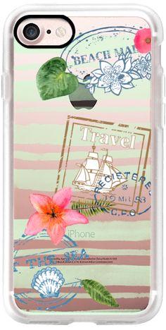 Casetify iPhone 7 Classic Grip Case - Let's Travel by Li Zamperini Art #Casetify