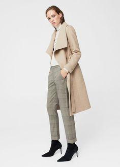 89d58089543 Ολόμαλλο παλτό με γιακά Herbst Winter, Wool Coat, Mantel Beige, Camel Coat,