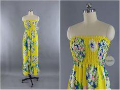 7ad57b586e6 Vintage 1960s Hawaiian Print Dress   Malia Hawaii