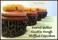 Mom's Test Kitchen: Peanut Butter Cookie Dough Stuffed Cupcakes