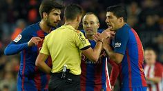 Red card made Suarez angry - http://www.tsmplug.com/football/red-card-made-suarez-angry/
