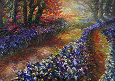 "Saatchi Online Artist Alexandr Mukhomedeev-Boyarov; Painting, ""Irises"" #art"