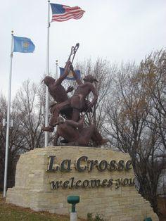 Lacrosse statue in La Crosse, WI