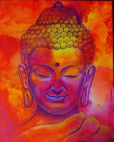 Buddha Painting Arts to Essence Your Environment with Peace: For centuries, Lord Buddha paintings have been considered as a symbol of bills, prosperity, and Buddha Zen, Buddha Buddhism, Buddhist Art, Buddha Artwork, Buddha Painting, Ganesha, Yoga Studio Design, Painting Inspiration, Buddhism