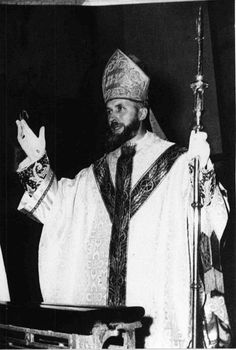 Mons. Lefebvre wearing a gothic chasuble