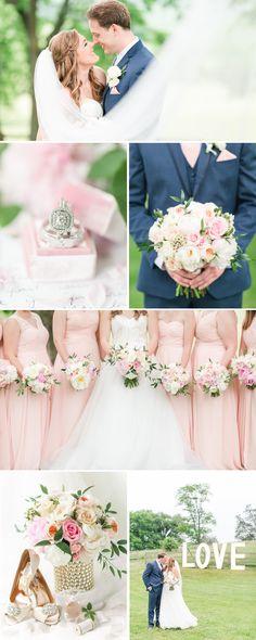 A Blush + Navy Inspired Spring Wedding at Big Spring Farm in Lexington, VA by Katelyn James Photography