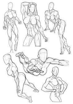 Here's some figure practice I've done recently. Trying to get used to the way the back muscles work and also a superheroine flight reference.