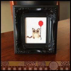 For all the fans of Tarder Sauce , The Grumpy Cat !! Great for a birthday or celebration !! Stitch Count: 39w x 46h Cloth: Aida Cloths Color: