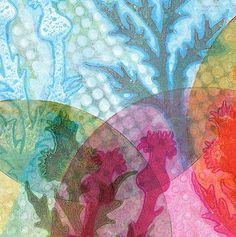 Printing with Gelli Arts®: Monoprinting on a Round Gelli Plate!