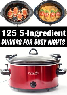 5 Ingredient or Less Recipes - Dinner Budget Frugal Meals! Dinner doesn't have to be hard! Make your dinner delicious this week with some help from these easy 5 Ingredient Crock Pot Recipes! Go grab the recipes and give some a try this week! Crock Pot Food, Crockpot Dishes, Crock Pot Slow Cooker, Crockpot Meals, Slow Cooker Recipes, Cooking 101, Cooking Recipes, Delicious Crockpot Recipes, Groceries Budget