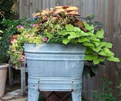 Planter Idea..Now to find a wash tub.