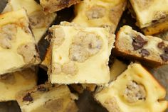Chocolate Chip Cookie Cheesecake Bars.......oh so good! Co-worker makes these all the time