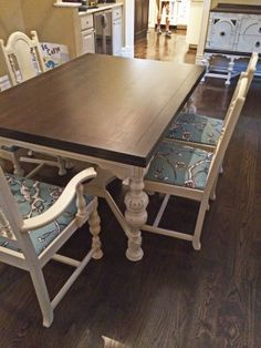 Java Gel Stain and Linen Milk Paint Furniture Repair, Chalk Paint Furniture, Furniture Makeover, Diy Furniture, Furniture Design, Dining Table Redo, Diy Table, Dining Room Furniture, Dining Rooms