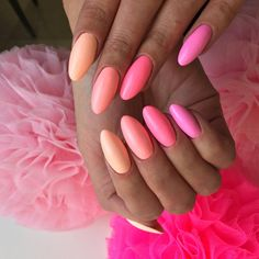 This is a fun color scheme for summer nails