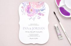 Elegant wedding invitations - personalised watercolor wedding stationery - custom marriage cards design. Wedding place cards, RSVP, thank you cards and everything you need for your perfect reception. We are proud to offer incredible printing quality and nothing but the best customer service.