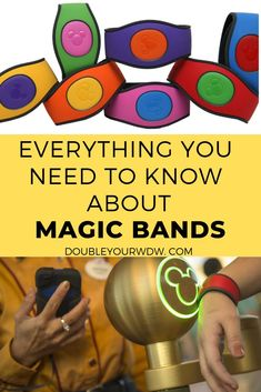 Learn all about Magic Bands at Walt Disney World to get the best disney vacation ever. Disney world planning tips and tricks to help you get the most out of your vacation Disney World Hotels, Disney World Tickets, Disney World Florida, Disney World Parks, Disney World Planning, Walt Disney World Vacations, Florida Travel, Disney Secrets, Disney World Tips And Tricks