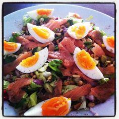 easy zalm salade. Heerlijk zomers recept.