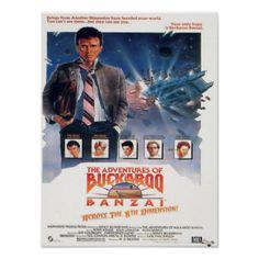 #vintage - #adventures of buckaroo banzai 1984 movie poster