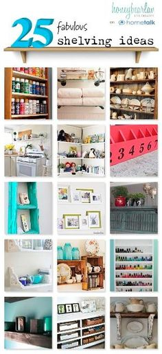 In my opinion, you can never have enough storage...and cute shelving is a great way to create additional storage. by sue
