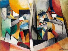 :Albert Gleizes, 1914, Paysage Cubiste, oil on canvas, 97 x 130 cm, published in Der Sturm, 5 October 1920.