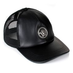 Versace Medusa Trucker Cap (€185) ❤ liked on Polyvore featuring men s  fashion 5d43ef5a700c