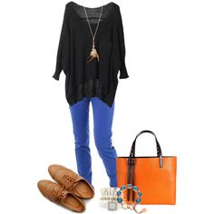 A fashion look from September 2013 featuring Minimum pants, Ollio oxfords and Amanda Wakeley tote bags. Browse and shop related looks.