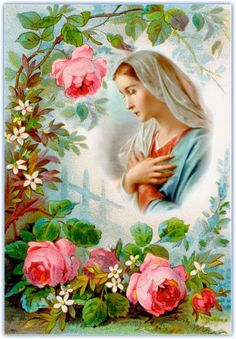 Holy Mary - the Mother of God Religious Pictures, Jesus Pictures, Religious Icons, Religious Art, Blessed Mother Mary, Divine Mother, Blessed Virgin Mary, Vintage Holy Cards, Photo Souvenir