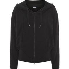 Adidas by Stella McCartney Essentials Zip Hoodie (255 BRL) ❤ liked on Polyvore featuring tops, hoodies, jackets, outerwear, sweaters, zip hoodies, zip top, adidas hoodies, hooded sweatshirt and oversized hood hoodie