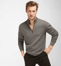 SWEATER WITH LEATHER DETAILING - MEN - Massimo Dutti