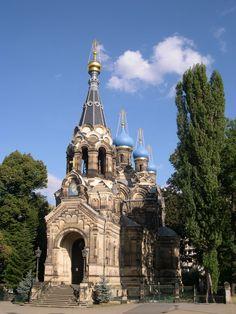 Image from http://upload.wikimedia.org/wikipedia/commons/c/c6/Russisch_Orthodoxe_Kirche_Dresden.JPG.