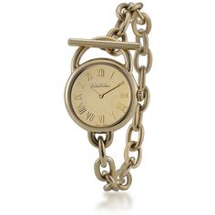 Brooks Brothers Ladies' Gold Stainless Link Bracelet Watch ($198) ❤ liked on Polyvore featuring jewelry, watches, accessories, bracelets, jewels, brooks brothers, gold wrist watch, yellow gold watches, blue crown and watch bracelet