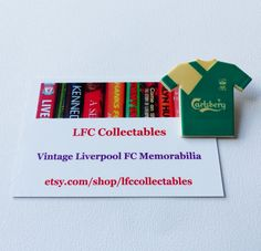 Liverpool FC Vintage Carlsberg Shirt Pin Badge by LFCcollectables