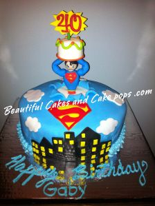Superman Cake (Would be SO CUTE for Thaddaeus!)