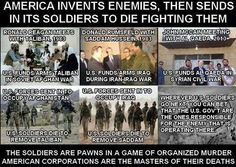 """We Helped Build ISIS"" – Admits retired Lt. Gen. Tom McInerney: http://globalelite.tv/2014/09/04/we-helped-build-isis-admits-retired-lt-gen-tom-mcinerney/  ""Military men are just dumb, stupid animals to be used as pawns in foreign policy."" — Henry Kissinger"