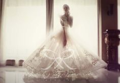 Katya Kasatkina in #tulle #ballgown #lace #weddinggown #wedding #dreamy #translucent #light by Rusly Tjohnardi Atelier   Photo by Marsio Juwono