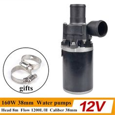 57.60$  Buy now - http://aliyuk.worldwells.pw/go.php?t=32758581984 - 12V/24V 160W 38mm Accelerate Water Circulation Auto Electric A/C Heater Water Pump Strengthen A/C Heating for car truck 57.60$