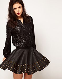a fun 80s look (ASOS Sequin Bomber Jacket)