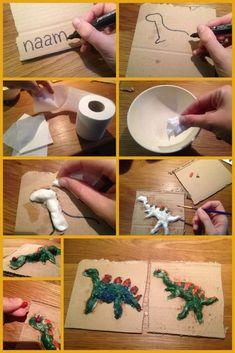 Dinosaurs Preschool, Dinosaur Activities, Dinosaur Crafts, Dinosaur Art, Craft Activities, Preschool Crafts, Diy Crafts For Kids, Arts And Crafts, Dino Craft