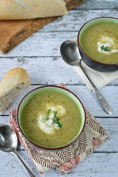 Roasted Tomatillo Chicken Soup via Kitchen Confidante (excellent blog)