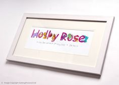 Personalised Animal Name Frame - For Girls