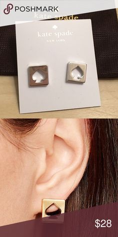 NWT Kate Spade Silver Earrings Brand new with tags Kate Spade Silver Earrings. Pic 2 for sizing purposes only. Comes with jewelry bag. NO TRADES kate spade Jewelry Earrings