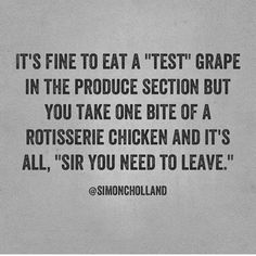 [New] The 10 Best Snack Ideas Today (with Pictures) - I don't see the difference. Lol do eat the grapes though. Lol Who else eats the grapes while shopping? Funny Signs, Funny Jokes, Funny Sarcasm, Hilarious Texts, Jokes Pics, Flirting Humor, Funny Fails, Belly Laughs, I Love To Laugh