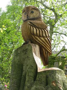 Wood Carving Owl - owl | Flickr - Photo Sharing!