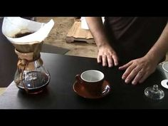 This video exhibits good technique for a Chemex pot. The pour techniques are applicable to just about any open-top drip pot and some of these my be more a matter of style than substance. (Pour Water How To Make) How To Make Coffee, I Love Coffee, My Coffee, Coffee Drinks, Chemex Coffee Maker, Best Coffee Maker, Coffee Uses, Coffee Art, Melitta Coffee Maker
