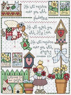 Letras e Artes da Lalá: gráfico de ponto-cruz