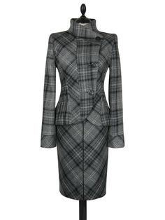 ZARA UK8 US4 EU36 GREY WOOL TWEED CHECK PENCIL SKIRT SUIT. Beautifully tailored pencil skirt suit in a medium weight wool blend fabric. Pencil skirt with back split and slightly dipped hem. UK8 US4.   eBay!