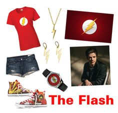 """""""The Flash Outfit"""" by archer10 ❤ liked on Polyvore featuring rag & bone/JEAN, Converse, Bling Jewelry and Zara Taylor"""