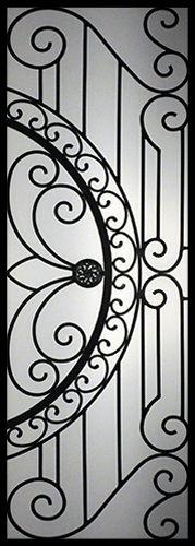 Wrought Iron Door Inserts - William 22x64