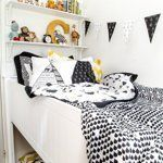 Name: Campbell Location: Shellharbour, Australia Campbell's room was always going to be a challenge when we transitioned from the cot to a big boy's bed due to the tiny size of the space (2.7m x 3.1m, about 9' x 10'). The door was placed in an awkward location in the middle of the wall...but we decided to slip a bed in behind the door so when you first look in the room it is not overpowered by the bed.